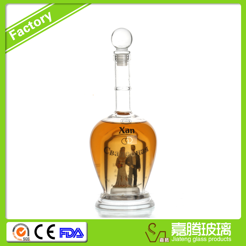 Hot sale different sizes customed whiskey bottle sizes