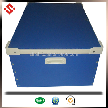2017 hot sale sealed edge PP plastic coroplast box corrugated plastic storage box