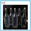 fancy hot selling clear swing top recycled different design glass bottles wholesale