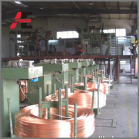 Upward continuous casting machine to produce copper rod production line by using copper scrap
