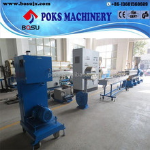 pet film scrap recycle granulating /pelletizing line