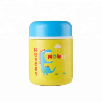 300ml can be customized logo Stainless steel insulated food jar for kids
