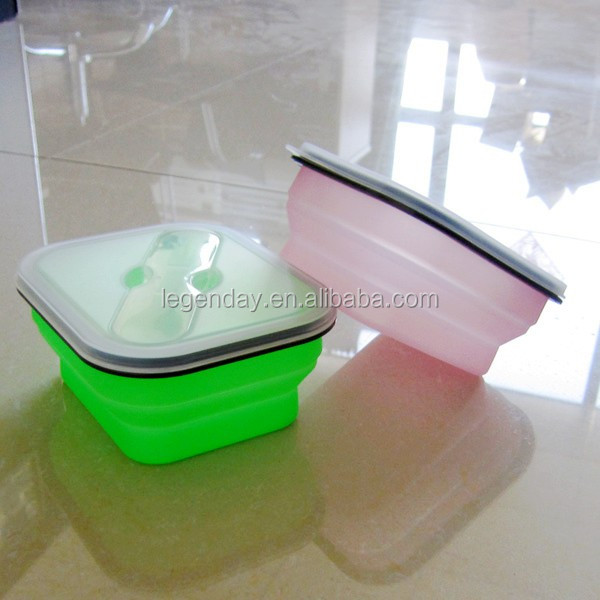 New Design Silicone Foldable Food Storage Box/Foldable Lunch Box