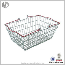 Anti-rust metal carry shopping basket from Guangzhou manufacturer