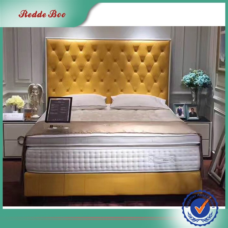 Happy dream pu faux leather bed portable super queen size twin bed cheap