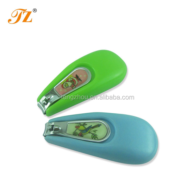 Wholesale Baby safety carbon steel nail clippers with plastic handle cover