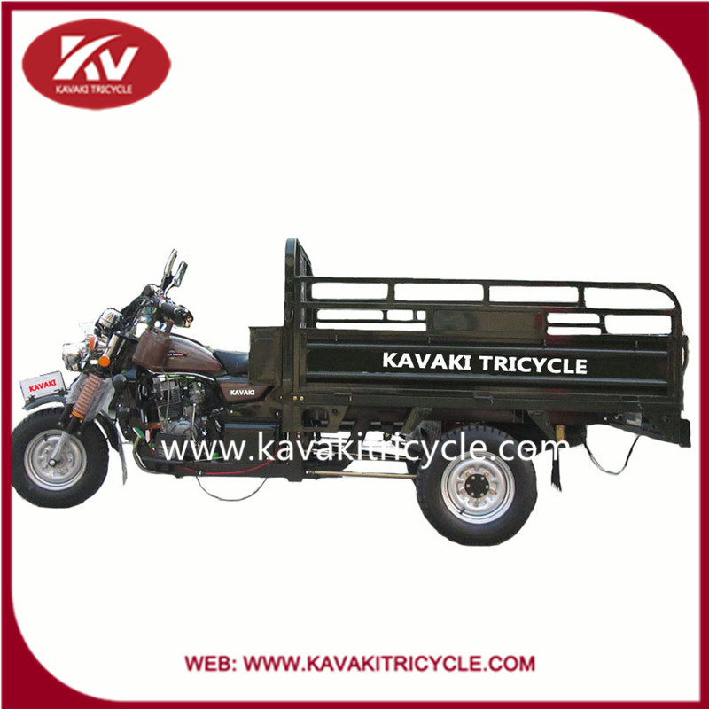 2015 Chinese New Top KAVAKI Brand Cargo Tricycle Petrol Motorized Adult Three Wheel Tricycles