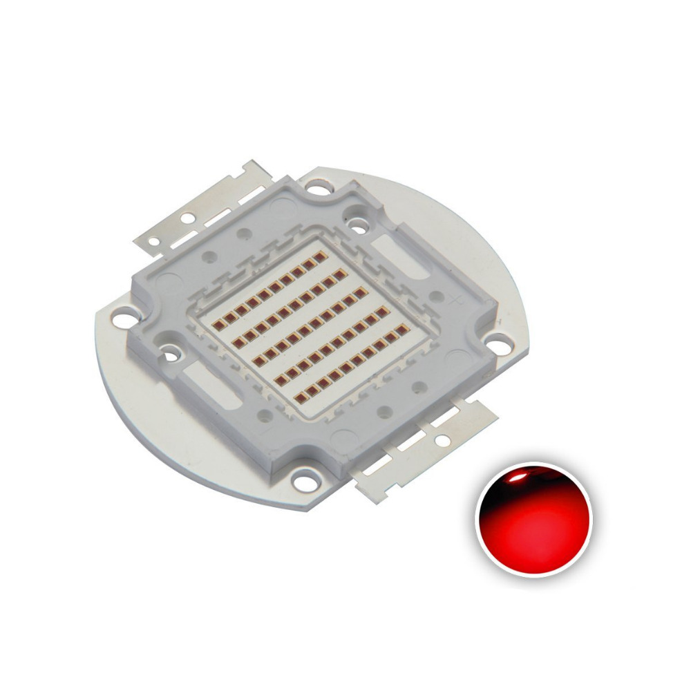 High Power Led Chip 50W Far Red Plant Grow Light (730nm / Input 1500mA / DC 18V-20V / 50 Watt) SMD COB Emitter Diode Components