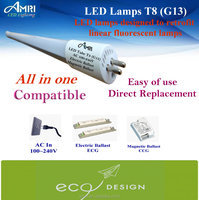 All in one LED Lamps T8(G13);Direct Plug and play Tube T8