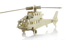 Wholesale New Design and High Quality Eductational and Practical 3D Helicopter Puzzle DIY Toy