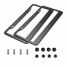 black stainless steel american license plate frame