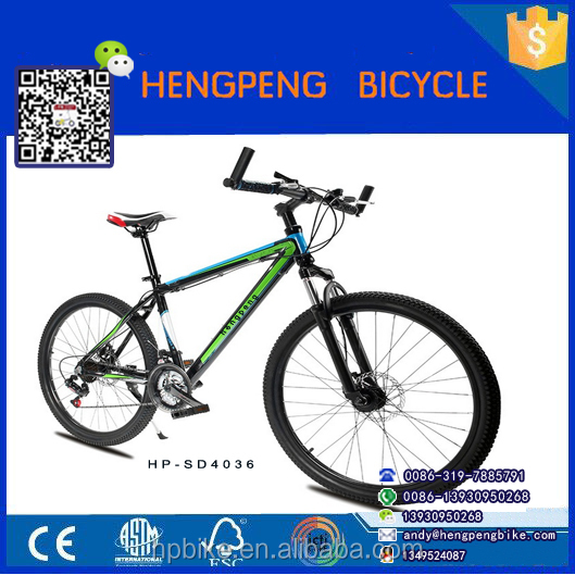 26 inch suspension fork alloy frame disc brake adult mountain bike/bicicleta/dirt jump bmx/andnaor para crianca