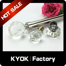 KYOK New design fashionable double curtain rod manufacturer Curtain accessories White Metal Curtain Rods