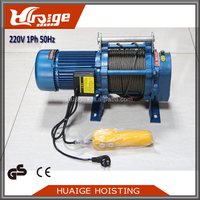 220V 800KG Pulling Machine Wire Cable Electric winch