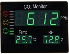 Warning Alarm Wall Mounting Indoor Air Quality Carbon Dioxide CO2 Controller/Monitors with Temp RH