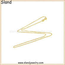 Europe and America style jewelry making 925 sterling silver chain 18k gold plated silver chain