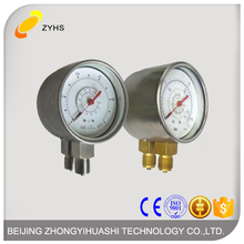 Double bourdon tubes differential pressure gauge with Standard type