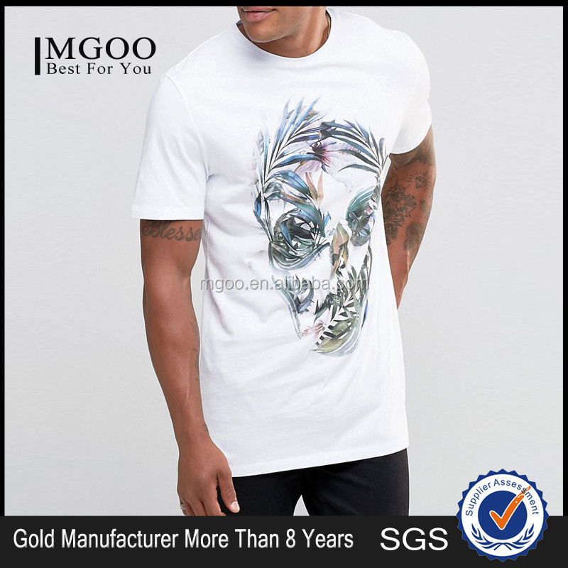 Sublimation Custom Hip Hop Fashion 100 Organic Cotton T Shirts With Printed Logo