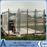 Hot Dipped Galvanized Used Chain Link Fence for dog / Cheap Chain Link Dog Kennels