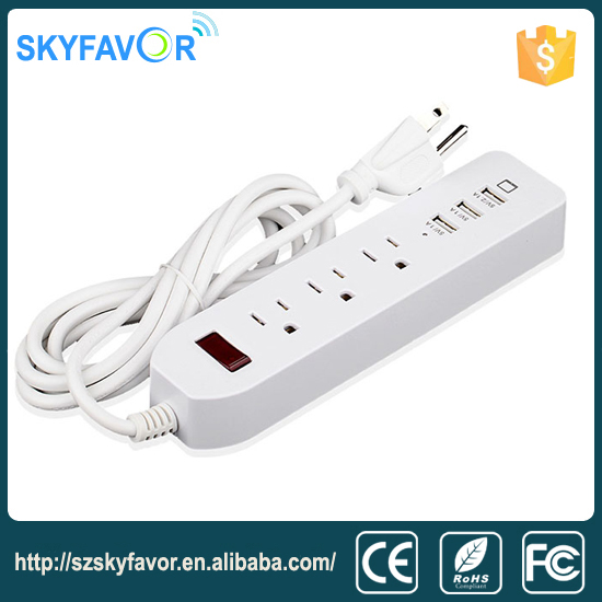 2016 New Home Electric Extension Socket Design With Usb