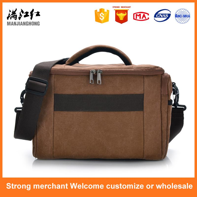 Factory direct sale outdoor photo bag canvas sling camera bag
