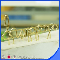 Custom shiny color iron wire metal paper clip letter metal clip