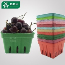 Farmers Market Basket Red Green Bule Color cardboard berry baskets For Party Wedding