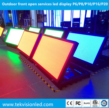 Outdoor double sided front open services led display P6/P8/P10/P16/P20 front serviceable led signs