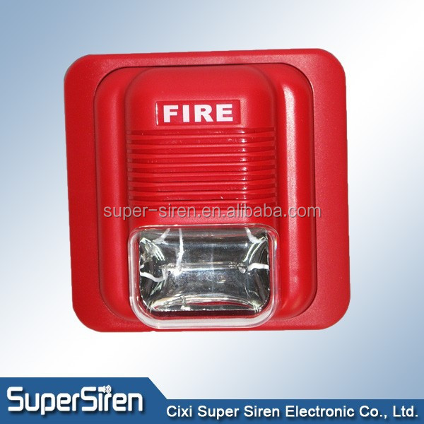 red color alarma sirene ABS material fire used fire sound strobe