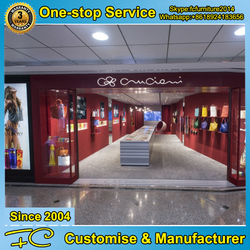 Shop interior design for handbag display kiosk
