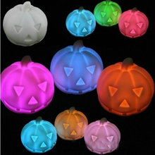 Party Festival Decor Color Changing Lamp Plastic Halloween Lantern Pumpkin LED Flashing Night Light Decoration