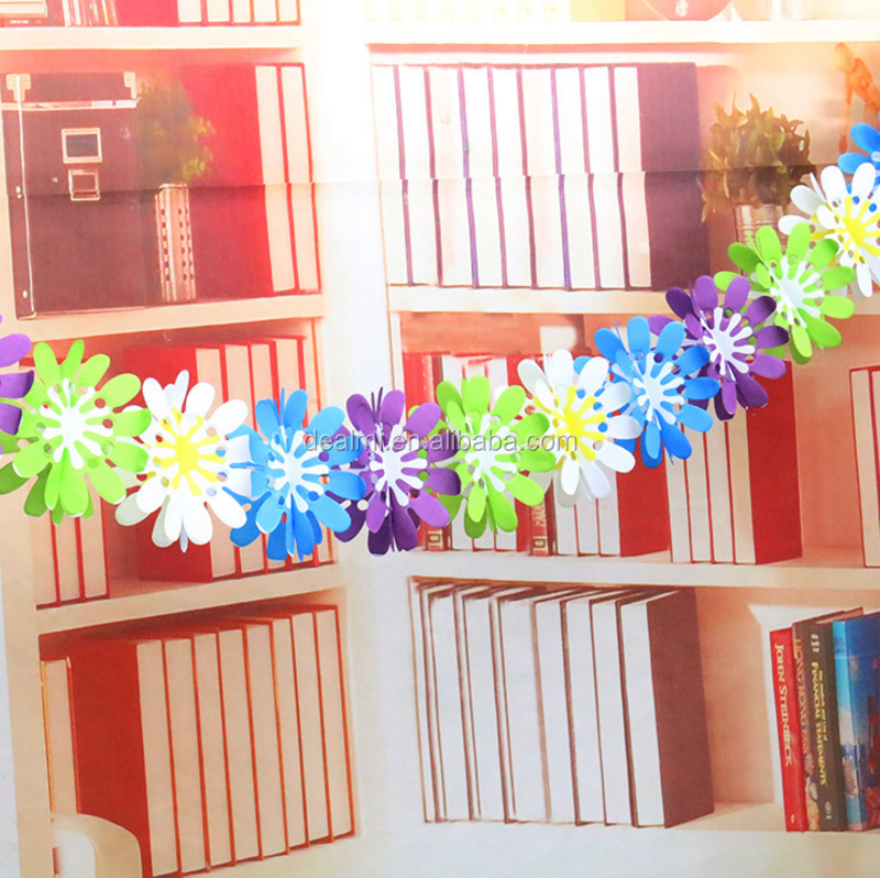 DMlqk771----Birthday party fashion environmental paper garland wholesale wedding decoration party shop