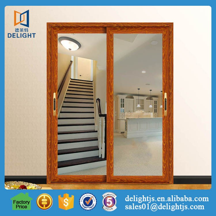 Energy efficient double glazing aluminium frame sliding door