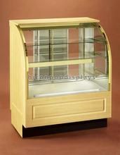 Custom Made Free Standing Food Retail Store Sliding Glass Wood Bakery Bread Cake Display Cabinet