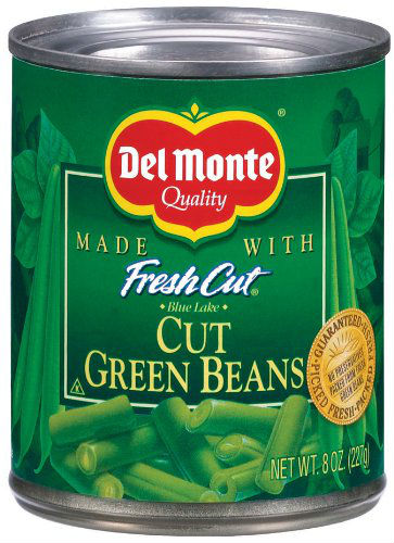 DEL MONTE CUTS GREEN BEAN EASY OPEN 12 CASE 8 OUNCE