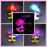 Custom plastic led party led flashing eyes mask,Party Masks With Lights , Wire Lighting Party Mask