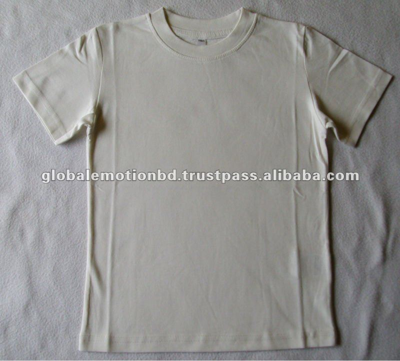 100% combed cotton boys short sleeve blank t-shirts , Children blank t-shirts,