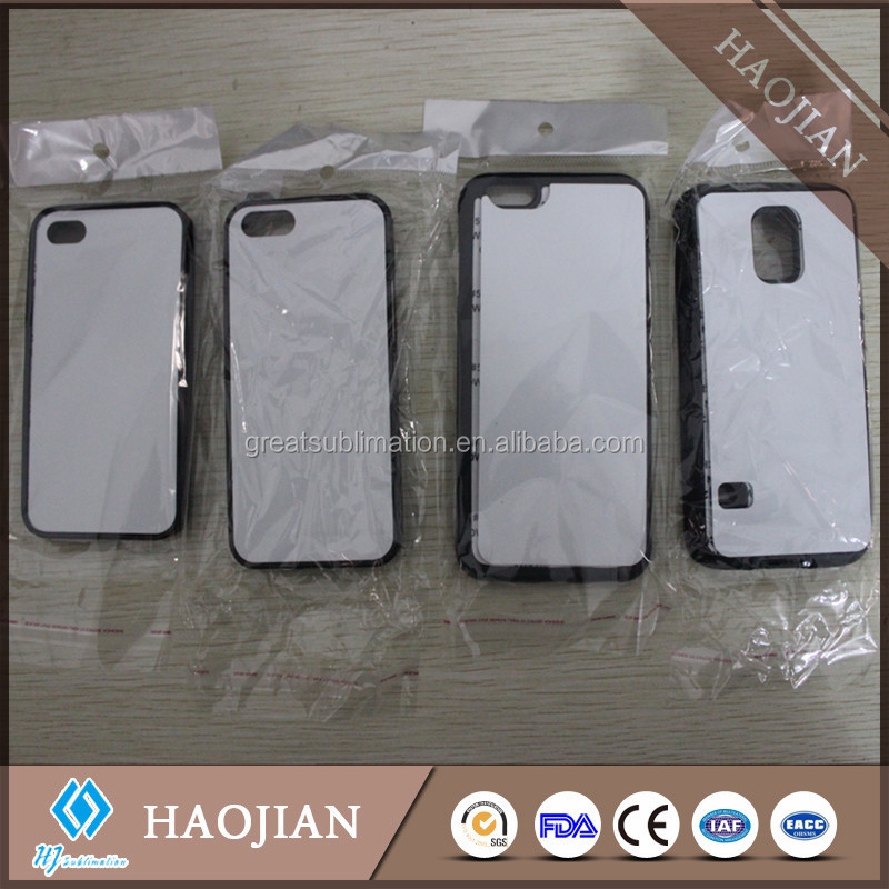 sublimation blank TPU+PC+ aluminum sheet black mobile phone covers