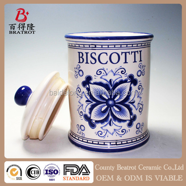 Factory direct sale kitchen ceramic sugar jar with lid