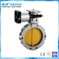 DN150 Double Flanged Aluminium Cement Butterfly Valve