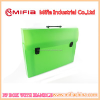 Portable Plastic PP a3 size file storage carring case