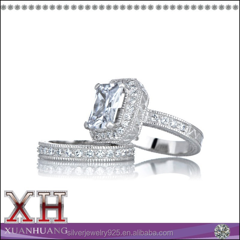 Updated Design Celebrity Inspired Wedding Ring Set