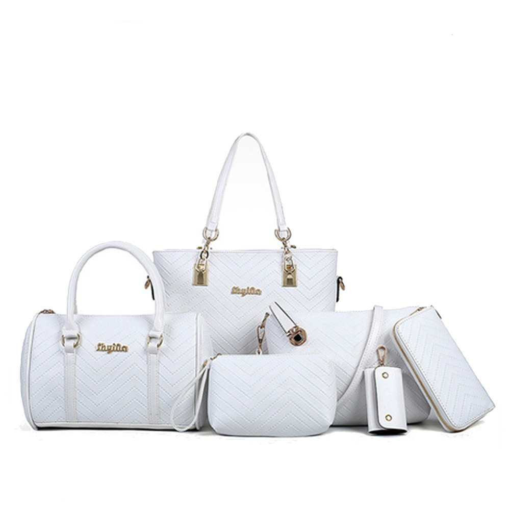 Cheap hand bag china manufacturer fashion ladies shoulder purse factory wholesale woman 6 in 1 china supplier Guangzhou