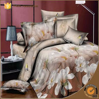 100% Polyester textile fabric 3d luxury bedding set