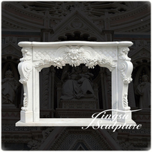 Hot selling white marble fireplace mental with good technology
