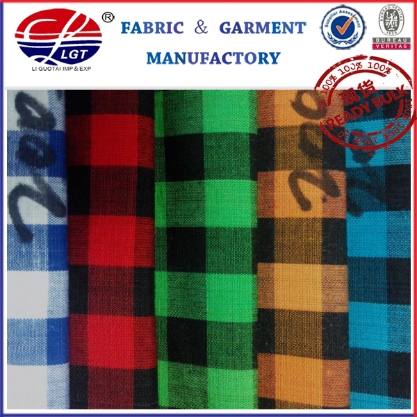 HD 2010 Hot and Fashion Cotton Check Fabric