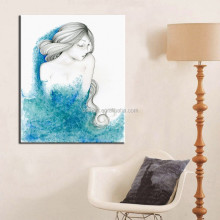 Light Colors Artist Design Simple Modern Oil Paintings On Canvas Sexy Nude Girl For Living Room