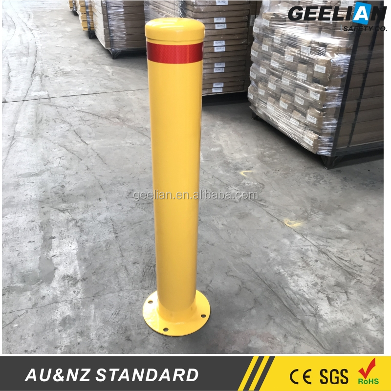 Remote control stainless steel automatic safety smart parking bollards