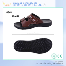 Fashion PU leather slipper, EVA sole men slide sandal
