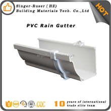 Plastic building material 4 5 7 Inch PVC Rain Gutter And Accessories, rain gutter price